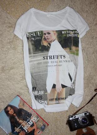 Белая футболка от zara