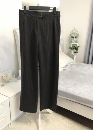 Люксовые шерстяные брюки с кашемиром / шерсть + кашемир / шотландия