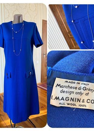 Италия эксклюзивное винтажное 💯 % шерсть платье сарафан дорогого кутюрье