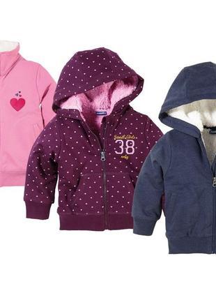 Кофта з хутром, дуже теплі . на меху.lupilu куртка 98-104, 110-116
