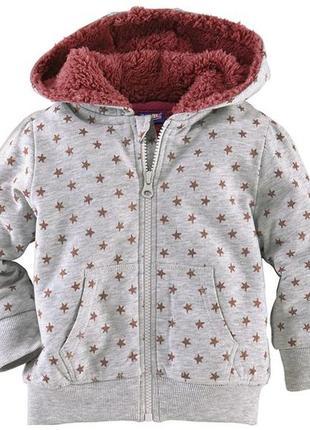 Кофта з хутром, дуже теплі . на меху.lupilu куртка 110-116