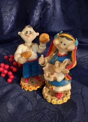 Пара украинцев 🌻 козак и козачка 🍒ярмарок статуэтки национальные