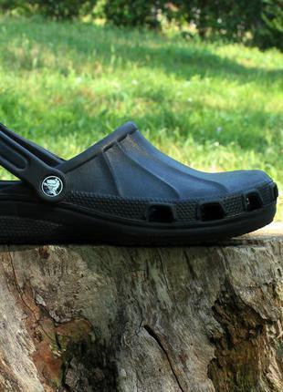 Черные кроксы crocs оригинал, размер 38 - 38.5