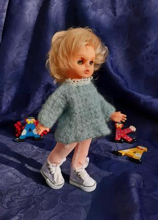 Veb puppenfabrik elsterwerda🧚♀️ кукла гдр винтаж германия винил с моргающими глазками