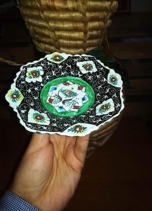 Медная конфетница эмаль узбекистан