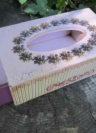 Салфетница с выдвижным ящиком. 24х13,5х8,5