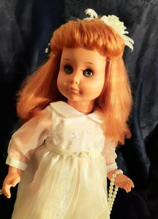Rauenstein раунштайн кукла гдр винтаж  в платье германия на резинках ранняя длинноволосая