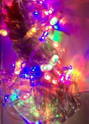 Гирлянда новогодняя 100 led ламп s-3100