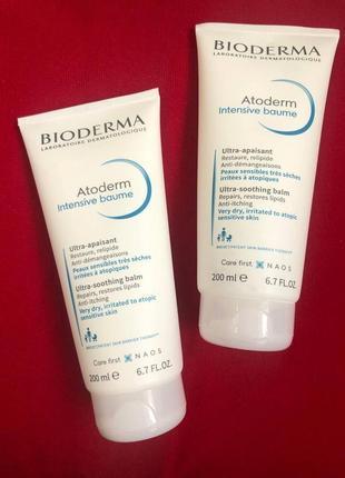 Смягчающий крем для лица и тела bioderma atoderm intensive baume