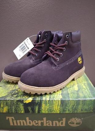 Ботинки timberland kid basic  темно-коричневые