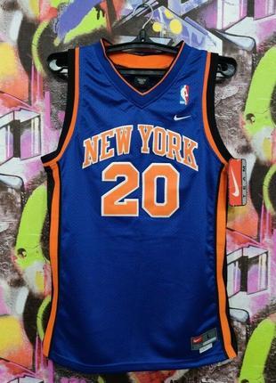 Баскетбольная майка нью йорк никс аллан хьюстон new york knicks allan houston nike