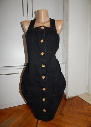 Denim co сарафан джинсовый модный uk10 eur38 чёрный