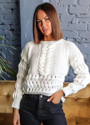 Укорочённый свитерок вязка