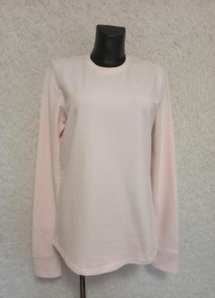 Нежно розовый стрейчевый лонгслив