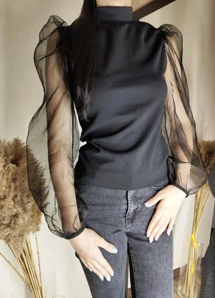 Блузка с рукавами из органзы missguided