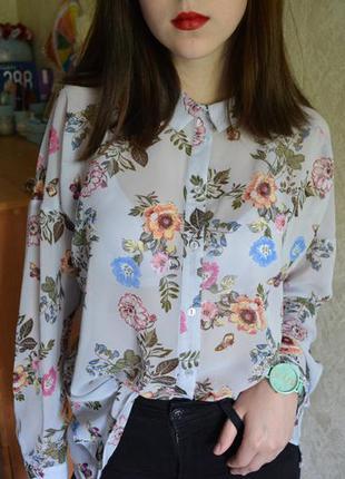 Рубашка в цветочек