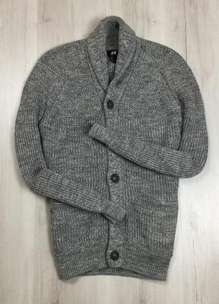 F7 кардиган серый h&m джемпер кофта свитер пуловер