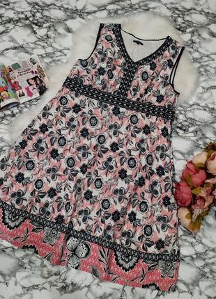 Красивое летнее  платье в цветы размер 22 (52-54)