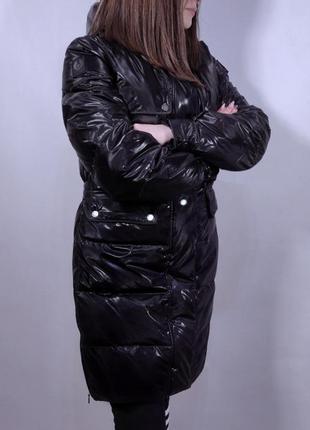 Пуховик belstaff silver down jacket/ italy (италия) куртка зимняя пуховая женская пальто