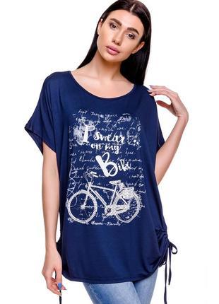Туника, длинная футболка с коротким рукавом, скидки, одежда из италии