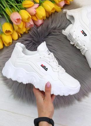 Шикарные женские белые  кроссовки кросівки
