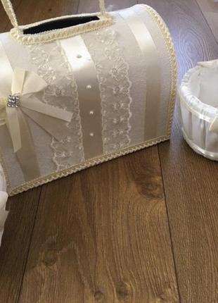 Весільний набір(скринька+кошики)