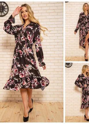 Платье женское 115r393-6 цвет коричневый