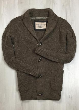 F7 кардиган 18%шерсть с шерстью rocha john джемпер кофта свитер пуловер