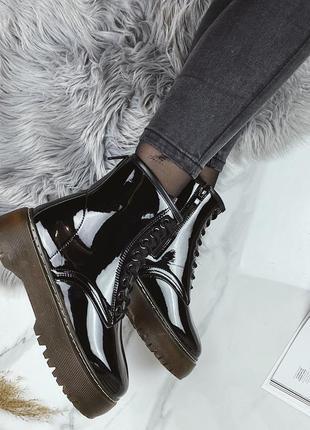 Ботинки лак супер модные 36-41