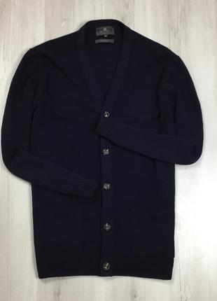 F7 кардиган темно-синий шерстяной m&s маркс спенсер джемпер кофта