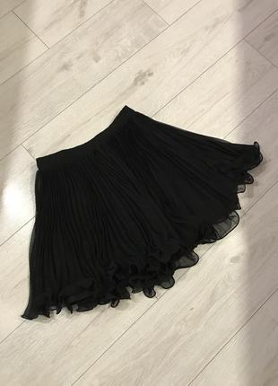 Шифоновая юбка плиссе miss selfridge