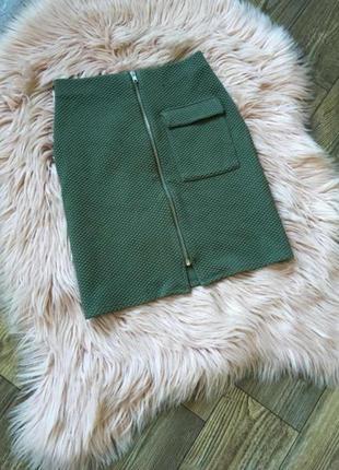 Мини юбка из рельефной ткани