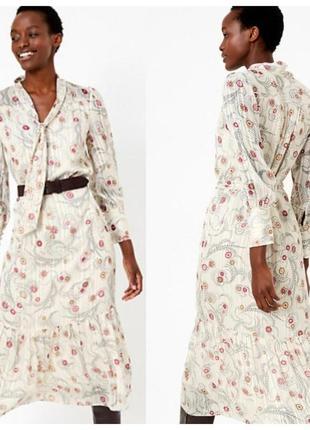 Люксовое длинное платье marks&spencer