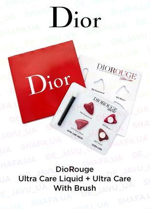 Пробник christian dior rouge ultra care liquid : помада для губ + кисть