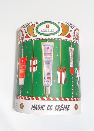 Erborian magic cc creme clair. подарочный набор: red pepper pulp, cc, cc eye