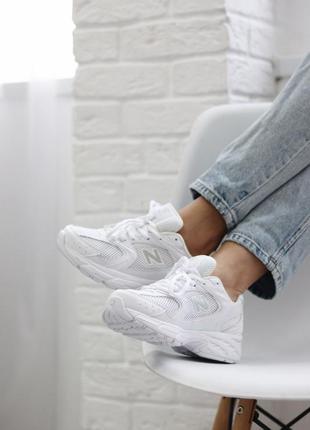 New balance 530 white  кроссовки