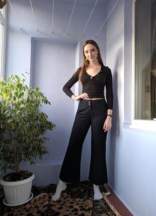 Льняные брюки wallis тёмно-синие буткат