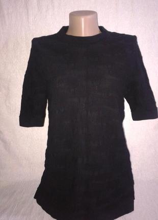 Cos оригинал  базовая черная футболка, хлопок 100% /s