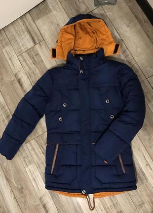 Очень тёплая парка для мальчика / подростков/ зимняя куртка