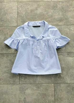 Небесно-голубая блузочка zara