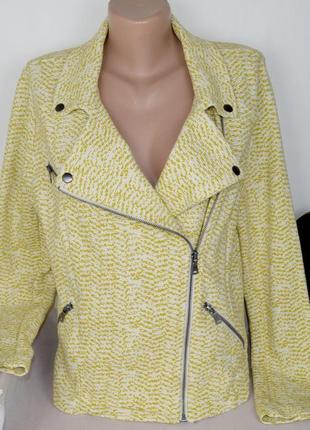 Брендовая демисезонная куртка косуха на молнии с карманами next маврикий коттон этикетка