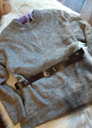 H&m/wool sweater/grey sweater/шерстяной свитер/серый свитер/женский свитер
