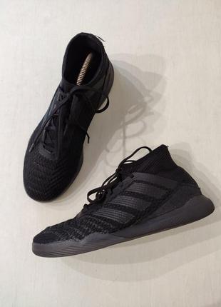 Adidas predator черные лёгкие летние кроссовки