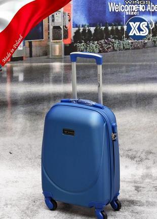 Акция !!!чемодан ,польский бренд wings  ,противоударный пластик,дорожная сумки