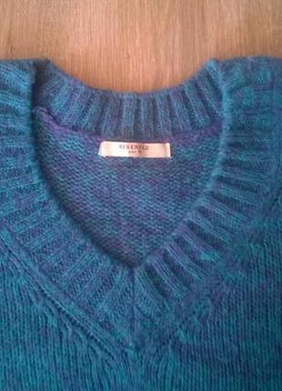 Теплый свитер- безрукавка жилет вязаный