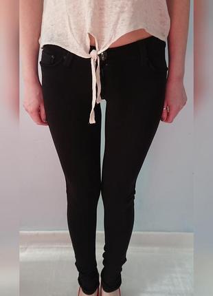 Черные леггинсы с карманами,трикотажные брюки, теплые и плотные, на флисе