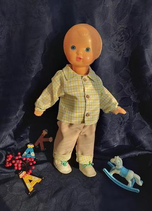 Кукла ссср 🧸пупс ссср витя советский московской фабрики сувенирных винтаж  рельефный