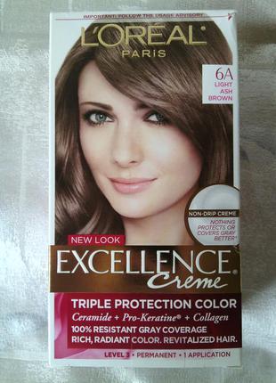 Оригинал l'oreal краска для волос пепельный коричневый lightashbrown профессиональная