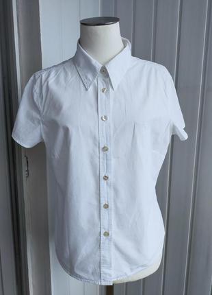 Рубашка белая marc o polo , 46  , с коротким рукавом