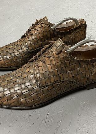Premiata мужские плетёные кожаные туфли